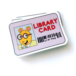 Library Card Sticker
