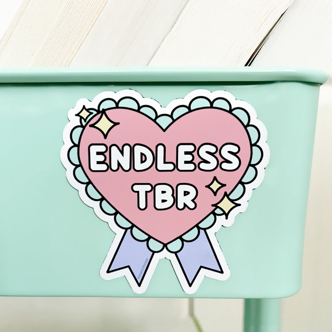 Endless TBR Book Cart Magnet