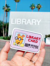 Load image into Gallery viewer, Library Card Sticker