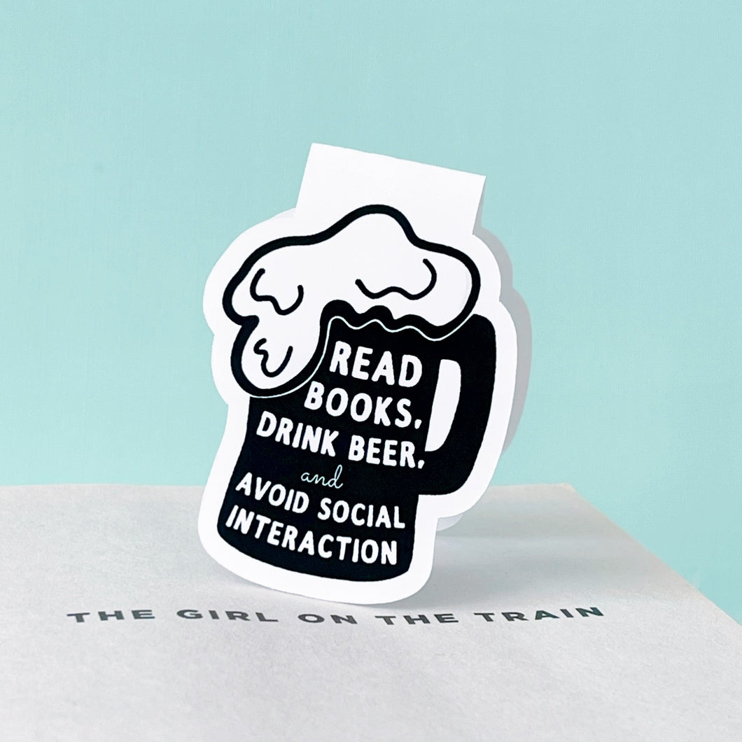 Read Books Drink Beer Magnetic Bookmark