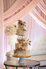 Rustic Hexagon Wedding Cake