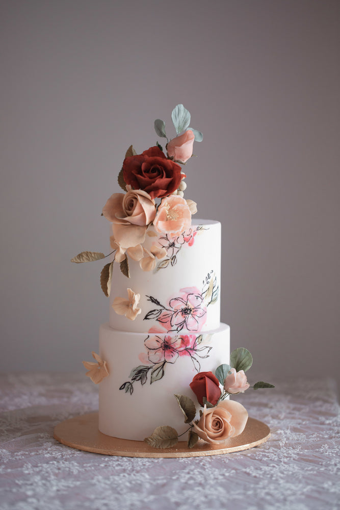Rose Garden Wedding Cake