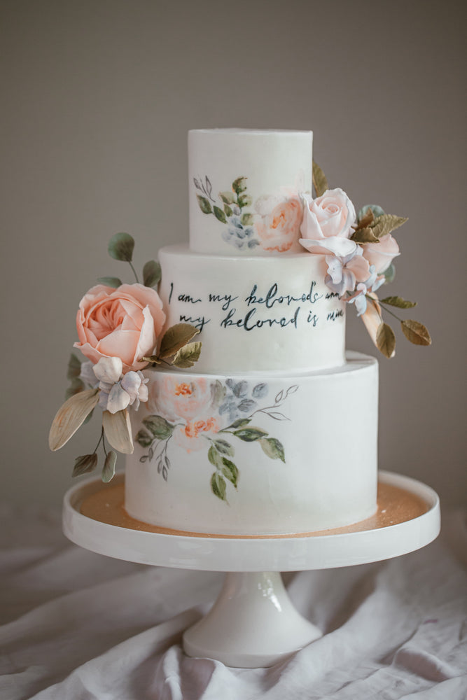 3 Tier Garden Wedding Cake