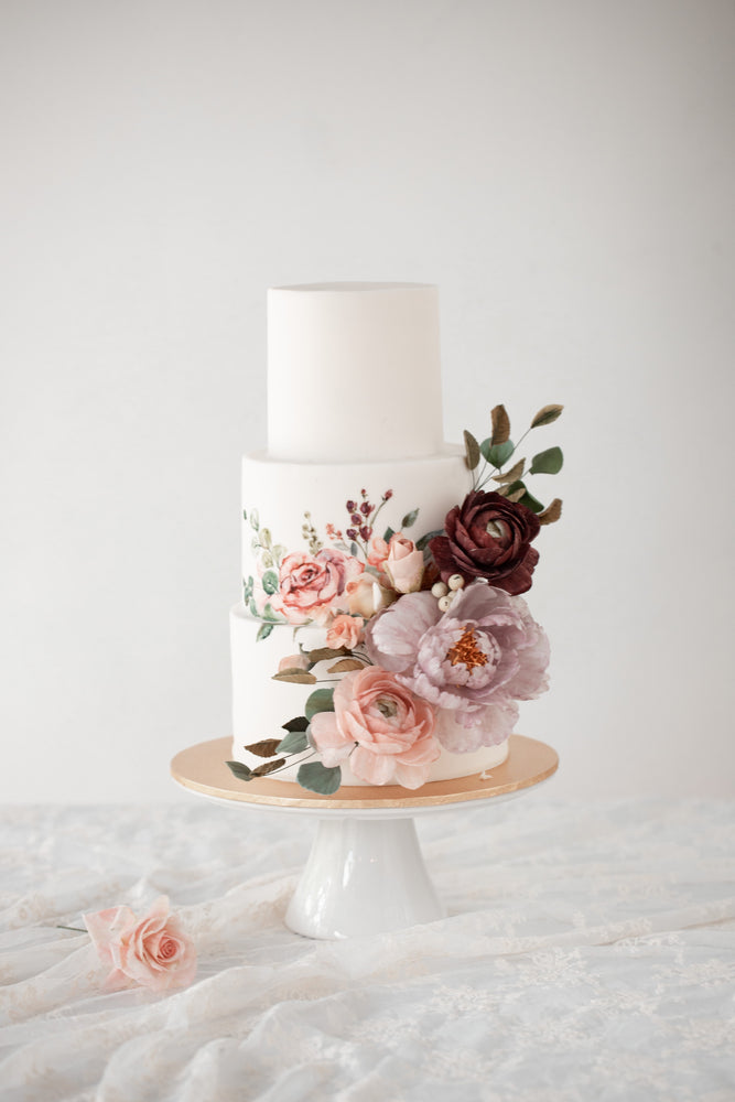 Rustic Garden Wedding Cake