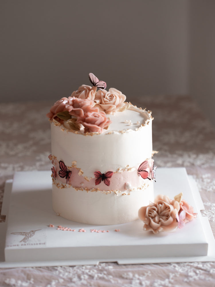 Load image into Gallery viewer, Masterclass: Faultline Butterfly Garden Cake