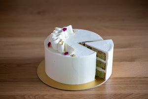 Load image into Gallery viewer, Rose Pistachio Buttercream Cake