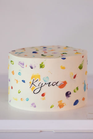 Load image into Gallery viewer, Colourful Terrazzo Cake