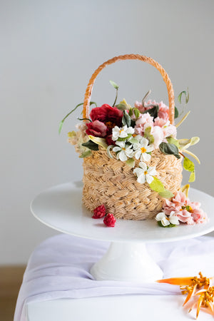 Load image into Gallery viewer, Beanpaste Flower Basket Cake