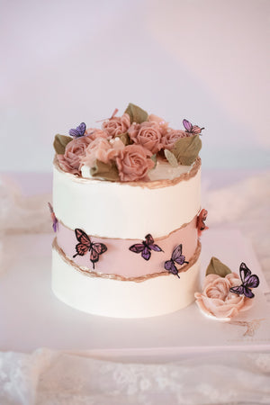 Load image into Gallery viewer, Faultline Butterfly Rose Garden Cake