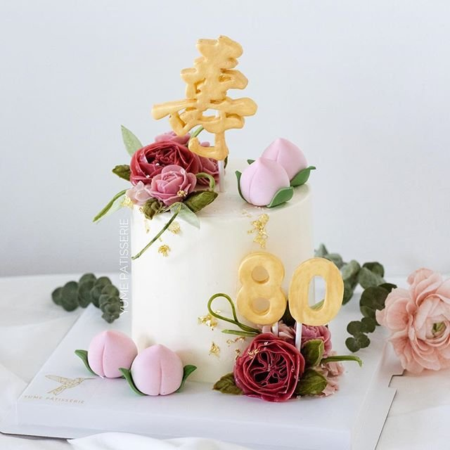 Elegant Longevity Cake With Buttercream Roses