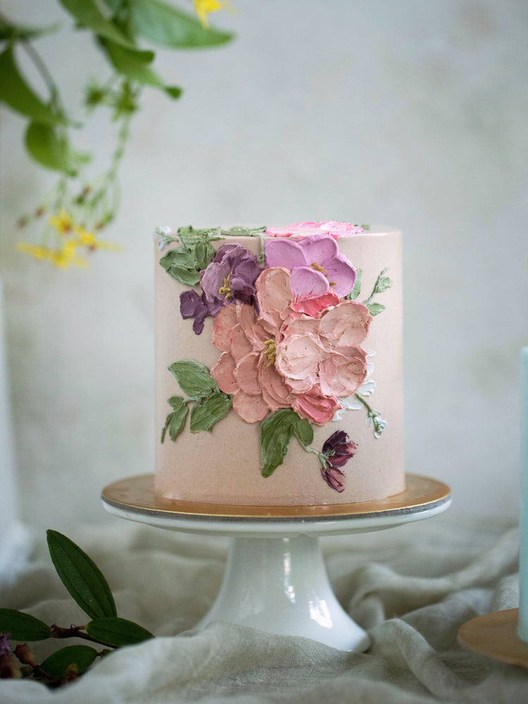 Load image into Gallery viewer, Masterclass: Handpainted Buttercream Floral Cake