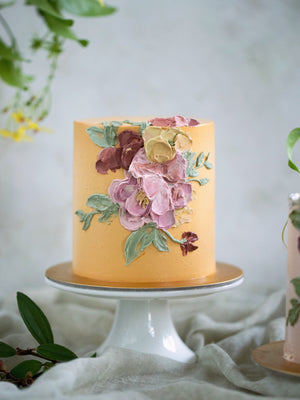 Load image into Gallery viewer, 2021 Mother's Day Special Handpainted Buttercream Floral Cake