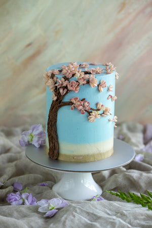 Load image into Gallery viewer, Cherry Blossom Masterclass (Yuzu Green Apple Cake)