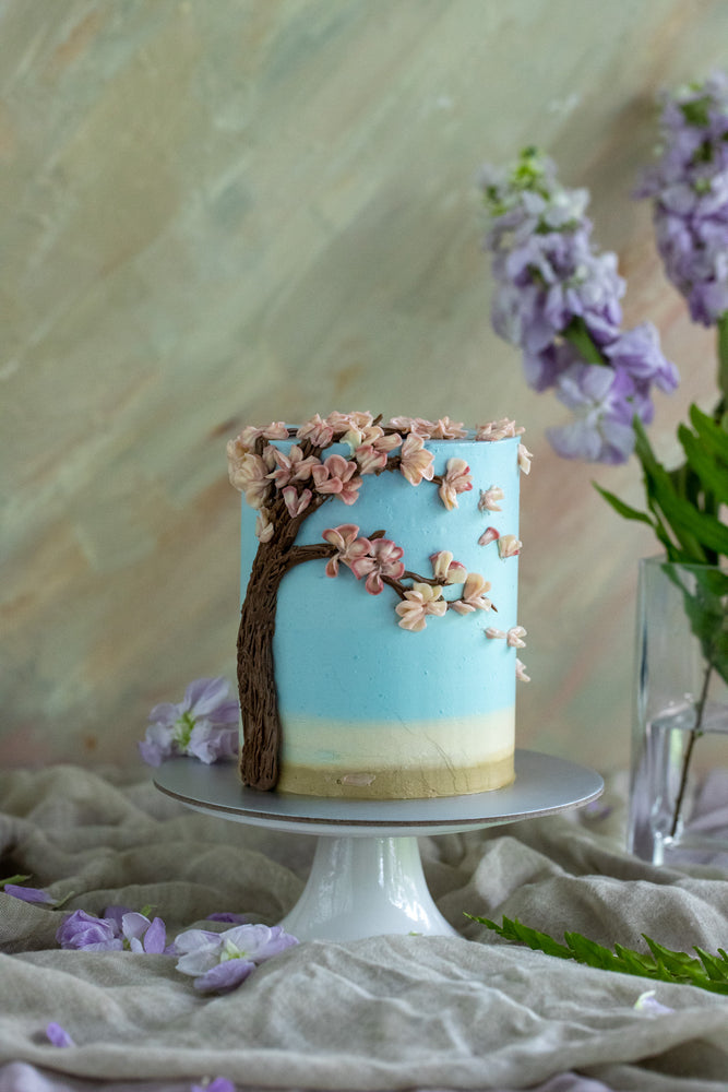 Cherry Blossom Masterclass (Yuzu Green Apple Cake)