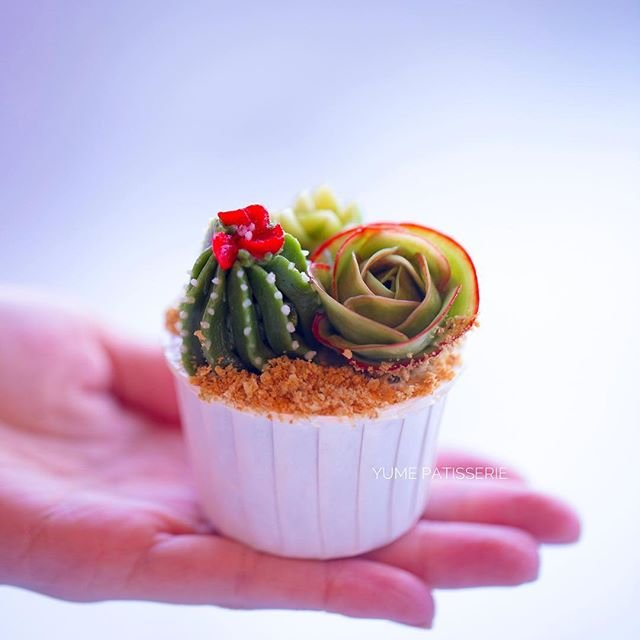 Masterclass: Korean Buttercream Cupcake Succulents Edition