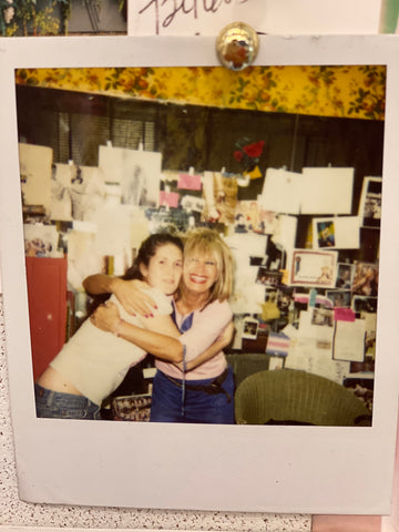 Betsey Johnson and Ellie Day in 2002, Betsey Johnson offices New York, NY
