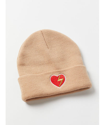 Heart with lightning bolt knit beanie from Urban Outfitters