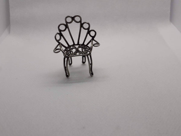 Antique Dollhouse furniture solid silver chair