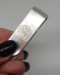 Old  925 Beer Commercial Italian money clip