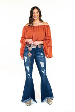 The Cowgirl Belle Jeans   Bell Bottom Jeans
