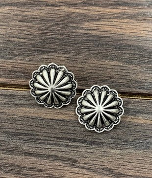 Concho Post Earrings