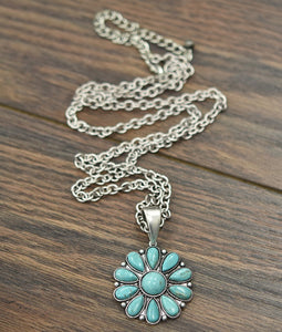 Small Turquoise Pendant | Necklace