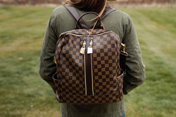 Chloe Convertible Backpack in LV Dupe | Bag