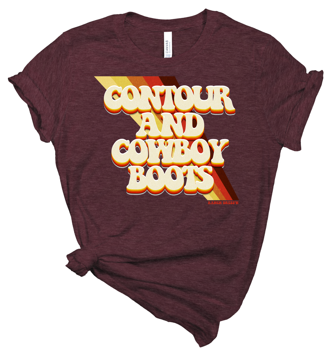 Contour and Cowboy | Graphic Tee