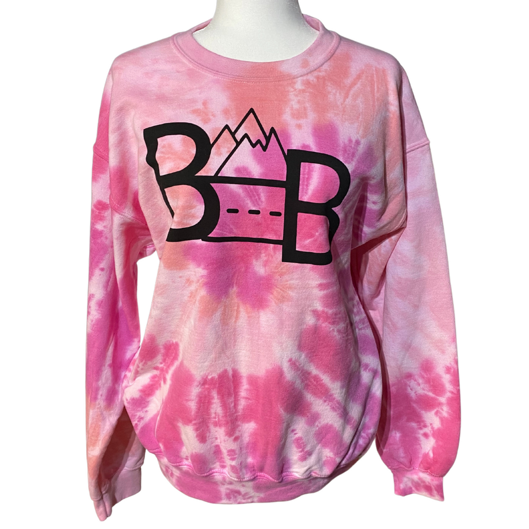 Cotton Candy TBB Logo Tie Dye Crewneck Sweatshirt