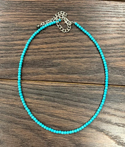 The Kelsea | Turquoise Beaded l Necklace