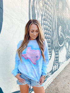 The Jen | Pink Texas Sweatshirt