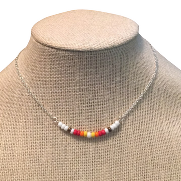 The Pocahontas Necklace   Seed Bead Necklace