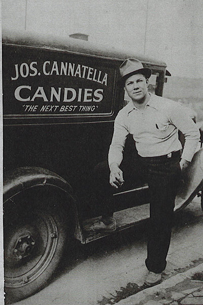 Heather's great uncle Joseph Cannatella with his candy truck in the 1920s.