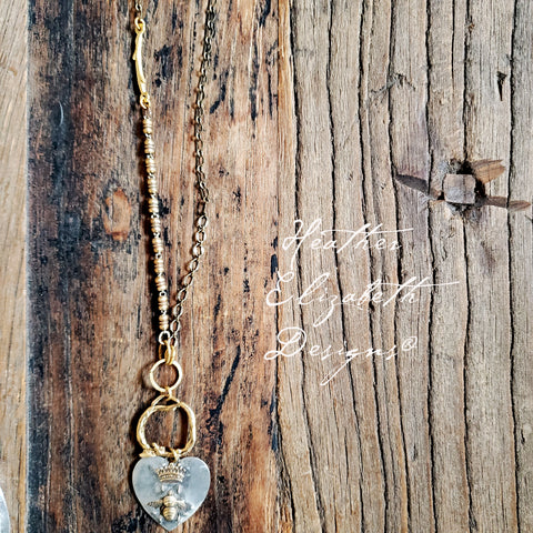 Bee and Crown Necklace
