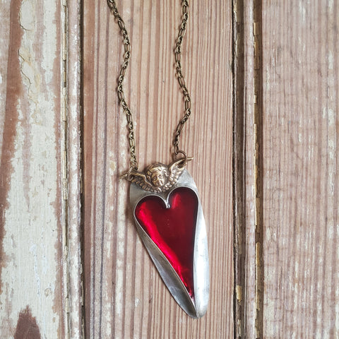 Cherub Heart Necklace