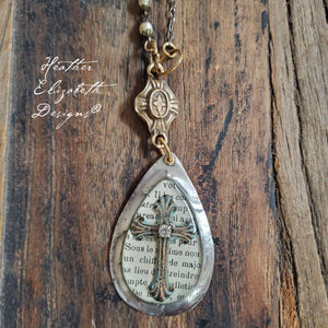 Teardrop Cross Necklace