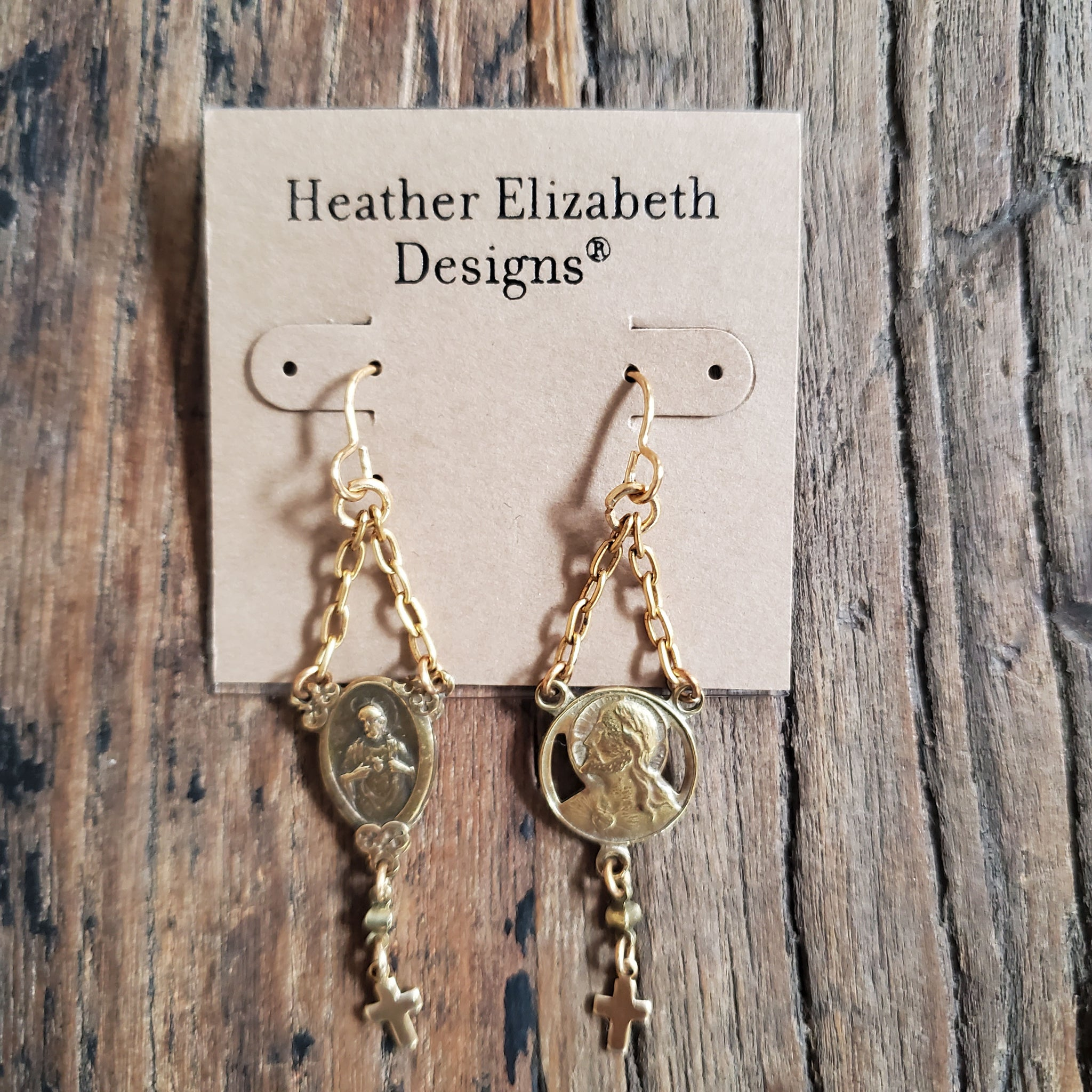 Antique Rosary Center Earrings