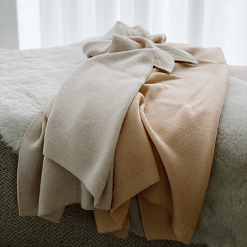 Blanket Eliz - Off-white & Oat