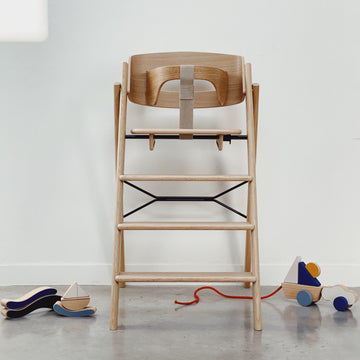 High Chair + safety rail - OAK