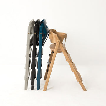 High Chair + safety rail - zwart