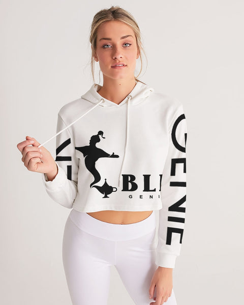 'September 8th' Women's Cropped Hoodie