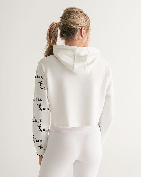 Black & White Women's Cropped Hoodie