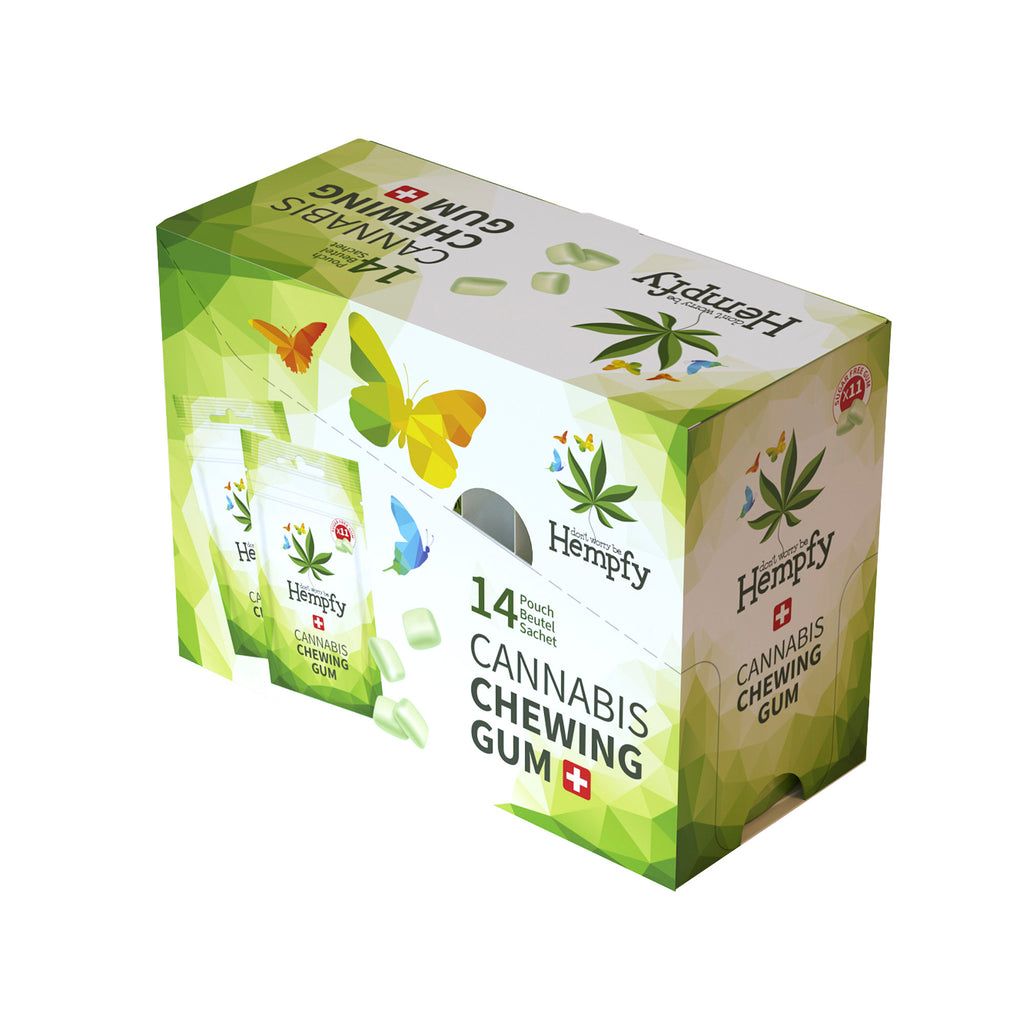 Chewing-gum Hempfy, 1 display, boîte de 14 sachets