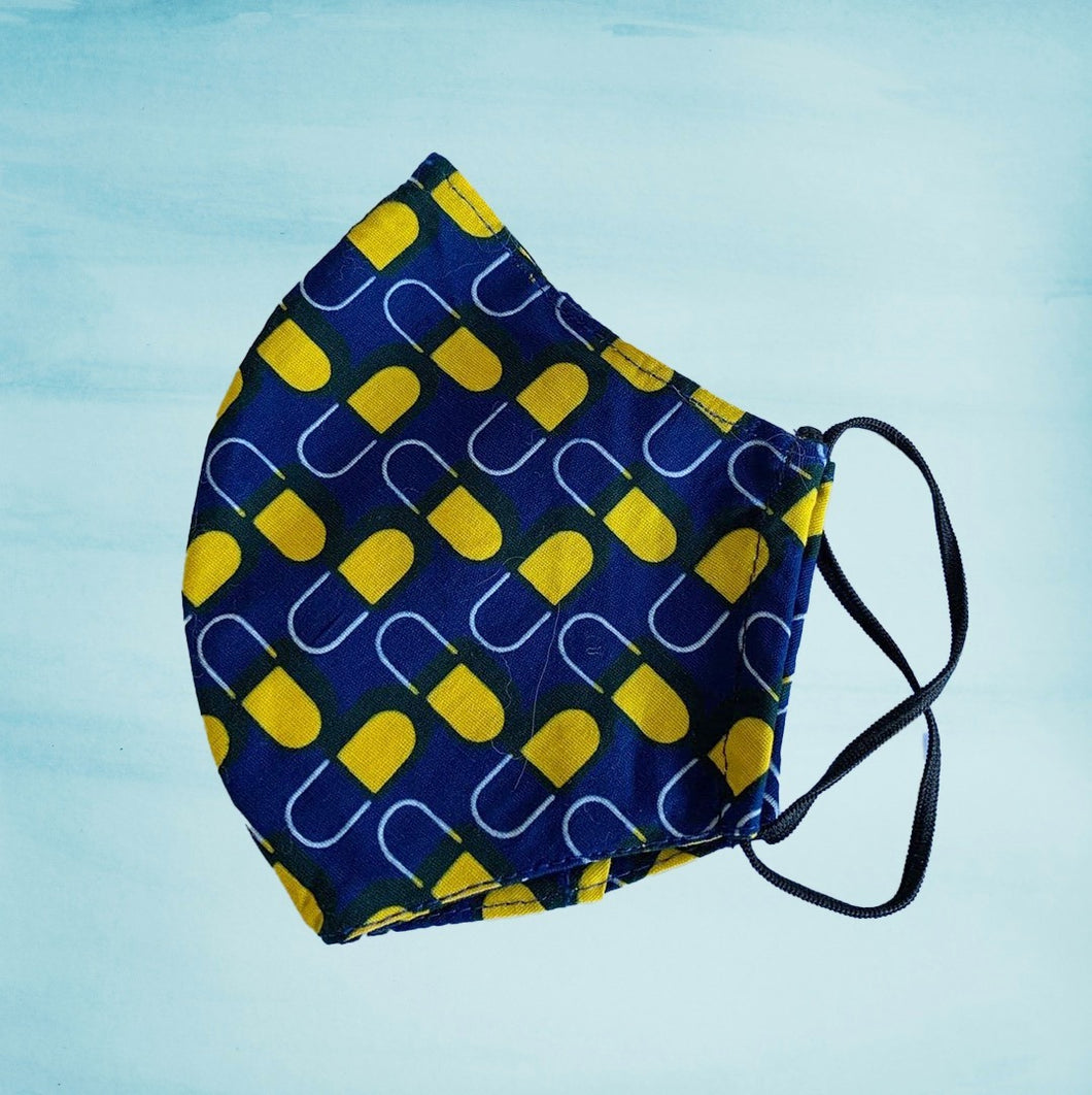 AA- NEW Navy with Yellow pattern