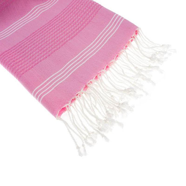 hamamdoek bamboe full roze detail