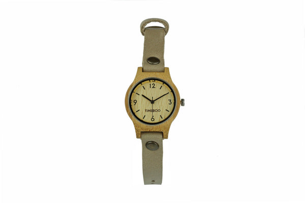 timeboo bamboe horloge urban small taupe