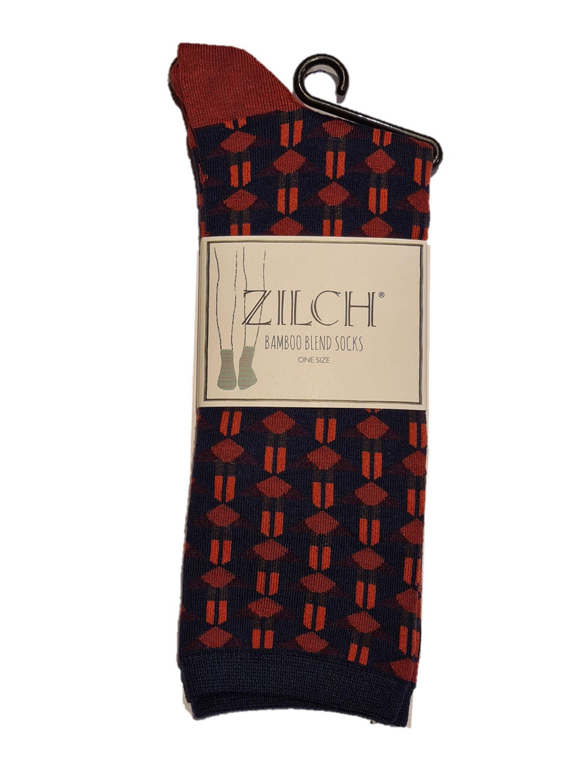 bamboe sok zilch art deco navy