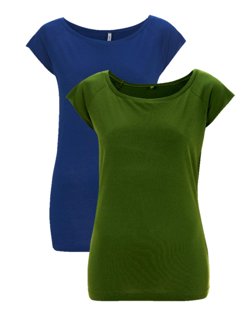 CAYBOO® dames bamboe shirt 2-pack mix - cayboo