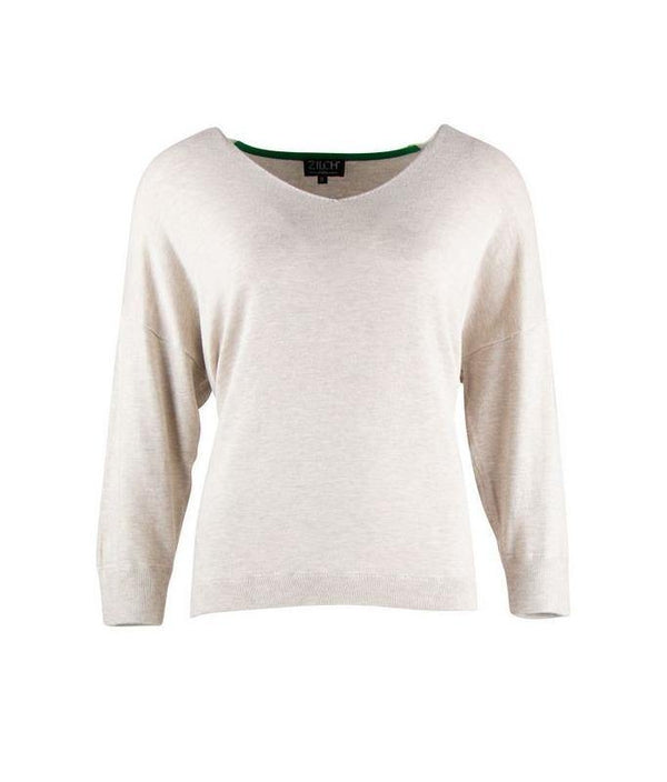 sweater bamboe v-neck wit zilch