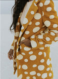 Downtown Yellow Button Coat